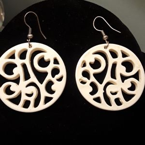 Mod carved Earrings